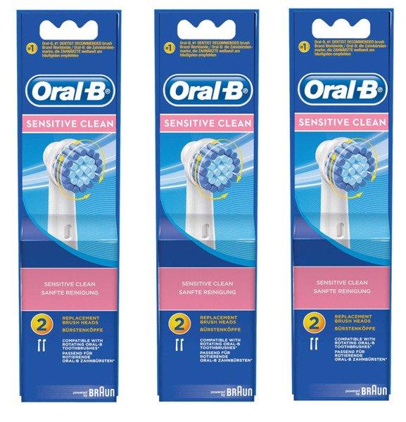 6 sztuk ORAL-B SENSITIVE CLEAN EBS17 100% ORYGINAŁ