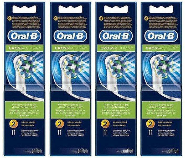 8 sztuk ORAL-B CROSS ACTION EB-50 100% ORYGINAŁ