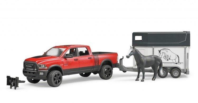 Bruder 02501 Dodge Ram 2500 + Przyczepa + Koń