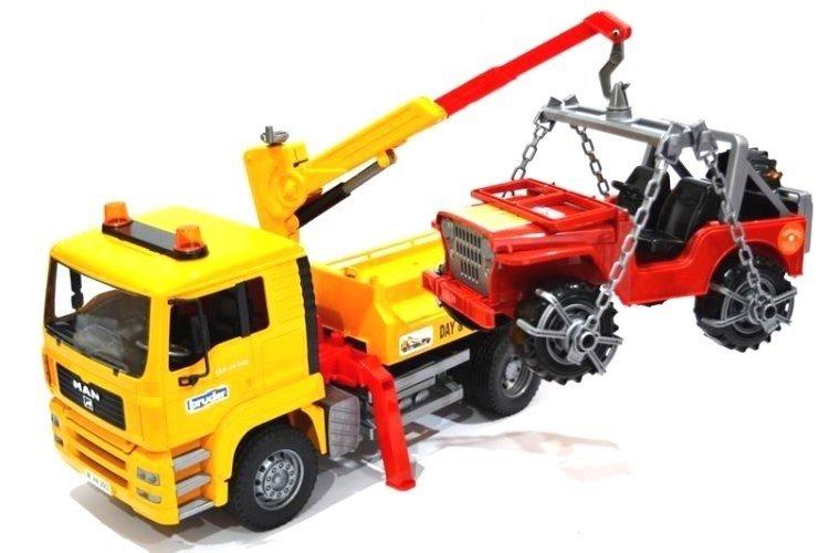 Bruder 02750 Pomoc Drogowa  Man + Jeep Laweta