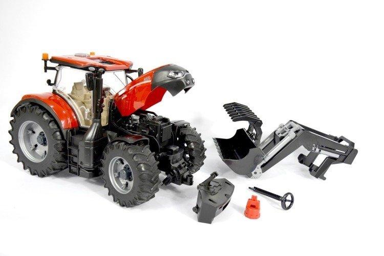 Bruder 03191 Traktor Case odkręcane koła+ładowacz
