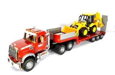 Bruder 02813 Mack ciężarówka Laweta koparka 02428