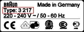 CP 31B Folia + Noz Braun 5000 / 6000 31B WROCLAW Contour Flex XP II